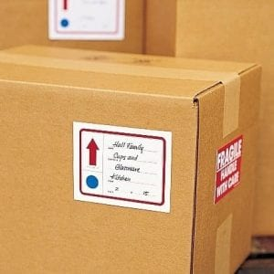 Rented Truck Driver Label Boxes Properly