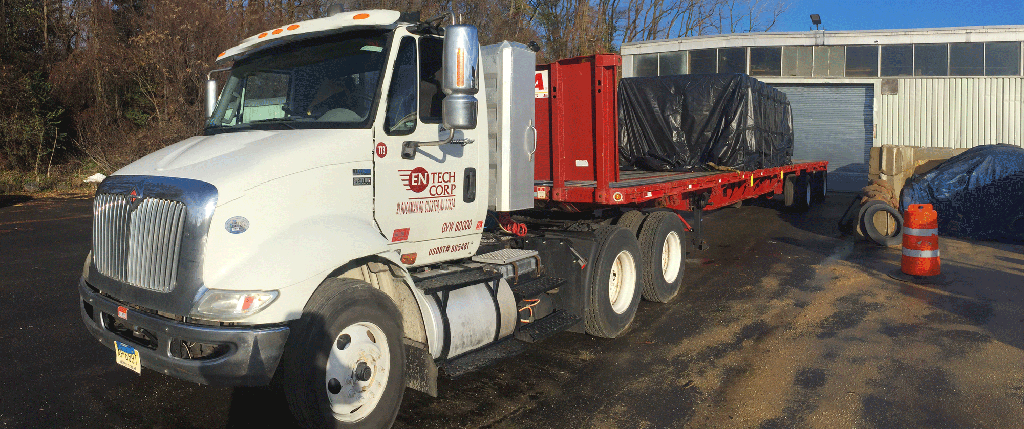 Large truck delivery